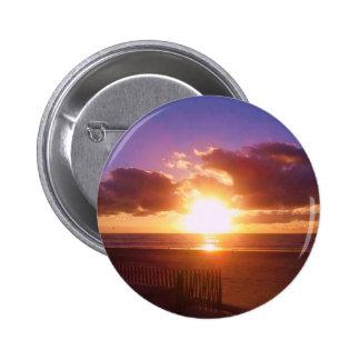 Botão do nascer do sol da praia bóton redondo 5.08cm