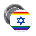Botão do orgulho de Israel LGBT Bóton Redondo 5.08cm