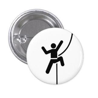 """Botão do pictograma da """"escalada"""" bóton redondo 2.54cm"""