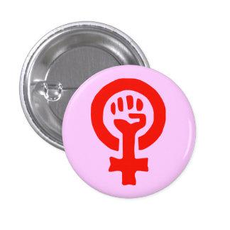 Botão do poder da mulher bóton redondo 2.54cm