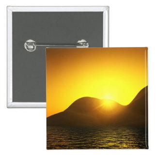 Botão do quadrado do lago sunset botons