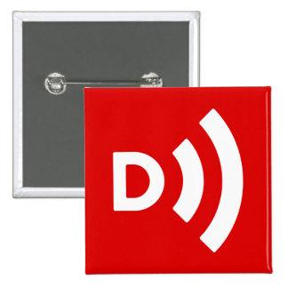 Botão do quadrado do logotipo da entrada de ar bóton quadrado 5.08cm