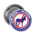 botão do republicano do voto botons