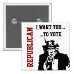 Botão do republicano do voto pins