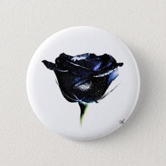Botão do rosa do preto bóton redondo 5.08cm