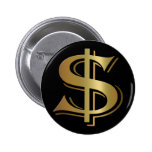Botão do sinal de dólar boton