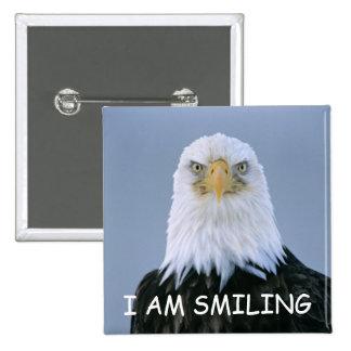 Botão do sorriso bóton quadrado 5.08cm