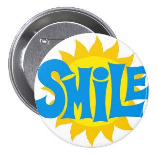 botão do sorriso bóton redondo 7.62cm