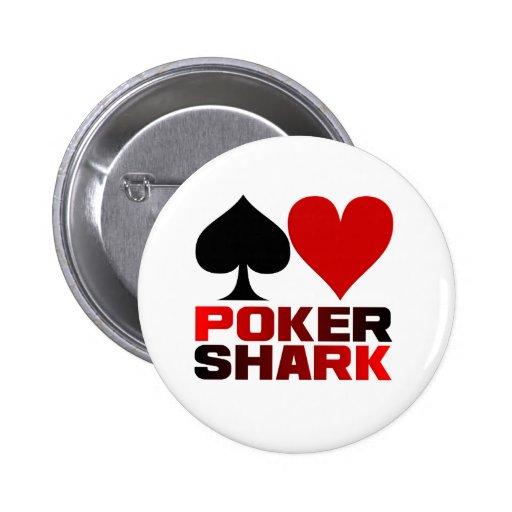 Botão do tubarão do póquer botons