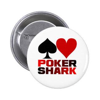 Botão do tubarão do póquer bóton redondo 5.08cm