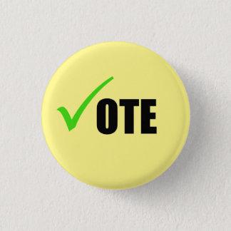 Botão do voto bóton redondo 2.54cm