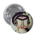 Botão doce da boneca de Grimitives Frida Bóton Redondo 2.54cm