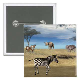 Botão dos animais do safari boton