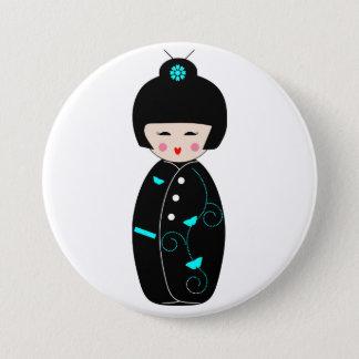 Botão dos desenhos animados da gueixa bóton redondo 7.62cm