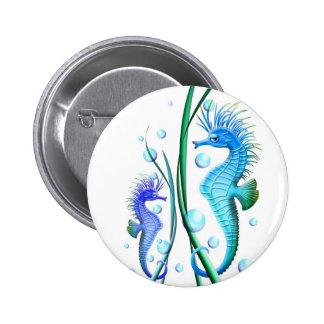 Botão dos desenhos animados dos cavalos marinhos bóton redondo 5.08cm