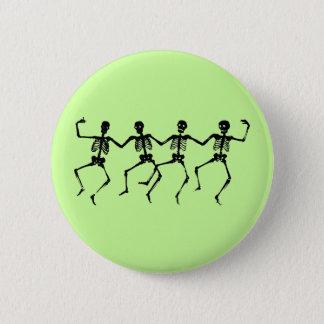 Botão dos esqueletos da dança bóton redondo 5.08cm