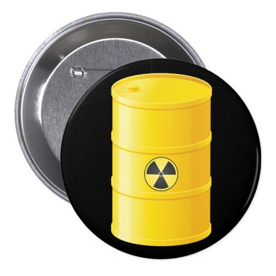 Botão dos resíduos radioactivos bóton redondo 7.62cm