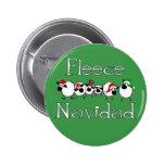 Botão engraçado do Natal de Navidad do velo Bóton Redondo 5.08cm