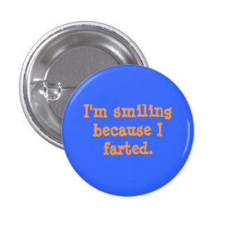Botão Farted de sorriso Bóton Redondo 2.54cm