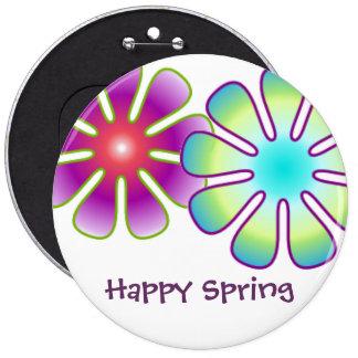 Botão feliz do primavera bóton redondo 15.24cm