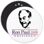 Botão gigantesco do retrato de Ron Paul Bóton Redondo 15.24cm