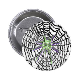 Botão gótico da aranha de vidro bóton redondo 5.08cm
