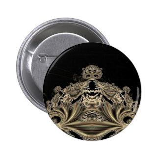 Botão gótico do rei do crânio dos Fractals Bóton Redondo 5.08cm