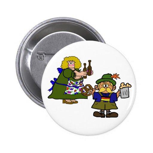 Botão homem e da cerveja e do pretzel alemães da m boton