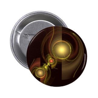 Botão íntimo da arte abstracta da conexão (redondo bóton redondo 5.08cm