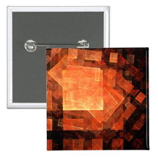 Botão leve da arte abstracta da janela (quadrado) bóton quadrado 5.08cm