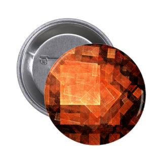 Botão leve da arte abstracta da janela (redondo) bóton redondo 5.08cm
