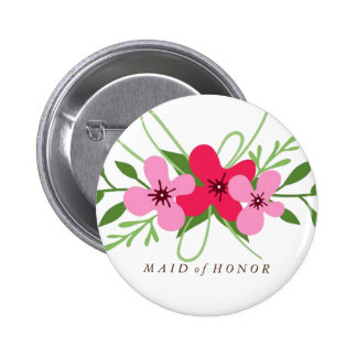 Botão - madrinha de casamento floral bóton redondo 5.08cm