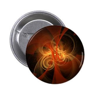 Botão mágico da arte abstracta da manhã (redondo) bóton redondo 5.08cm