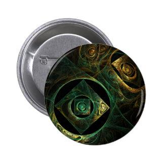Botão mágico da arte abstracta das vibrações (redo bóton redondo 5.08cm