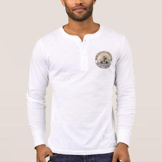 Botão-Para baixo T da bala de canhão de MSILSF T-shirt