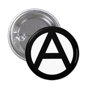 Botão pequeno da anarquia bóton redondo 2.54cm