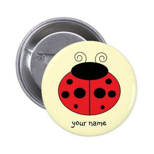 Botão personalizado do joaninha pins