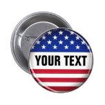 Botão personalizado dos EUA Pins