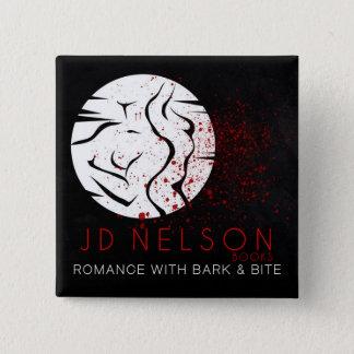 Botão quadrado do autor JD Nelson Bóton Quadrado 5.08cm