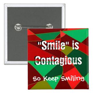 Botão quadrado do sorriso bóton quadrado 5.08cm
