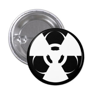 Botão radioativo do símbolo do Biohazard Bóton Redondo 2.54cm