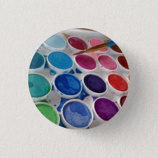 Botão redondo da paleta da pintura do artista da bóton redondo 2.54cm
