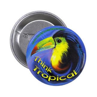 Botão redondo de Aruba Toucan Boton