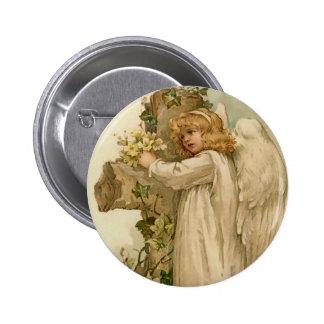 Botão redondo do anjo da páscoa do vintage bóton redondo 5.08cm