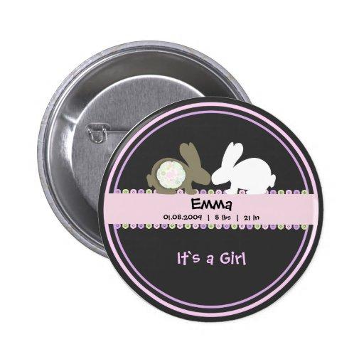Botão redondo do anúncio do nascimento do amor do  boton