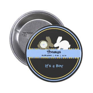 Botão redondo do anúncio do nascimento do amor do  bóton redondo 5.08cm