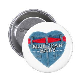 Botão redondo do bebê azul de Jean Pins