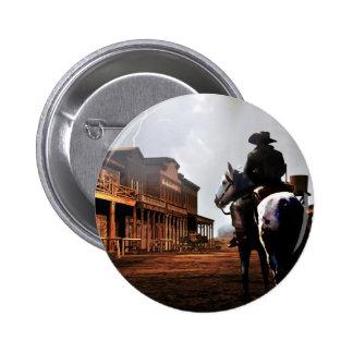 Botão redondo do cavaleiro solitário boton
