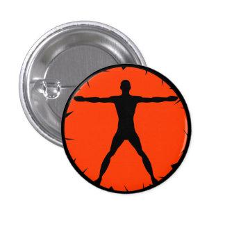 Botão redondo do homem de Vitruvian da malhação da Bóton Redondo 2.54cm