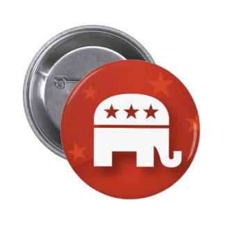Botão republicano do elefante bóton redondo 5.08cm